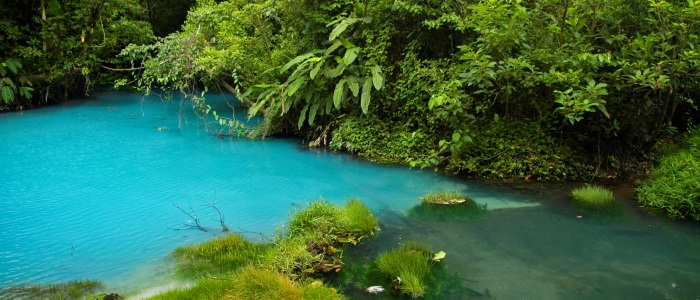 experience the amazing blue river while touring around costa rica