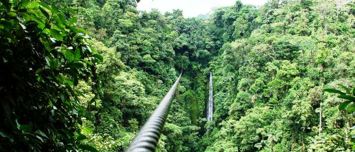 experience the canopy tour while touring around costa rica