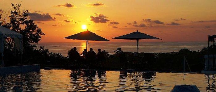 nice sunset at the beautiful uvita beach