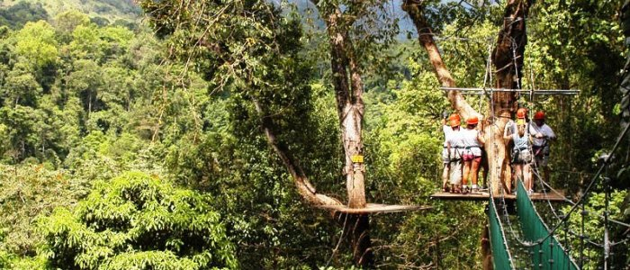 zip lining in the manuel antonio national park area