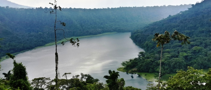 the laguna de hule is a great option to visit on a costa rica family vacation