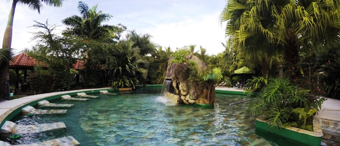 relax at paradise hot springs while visiting costa rica
