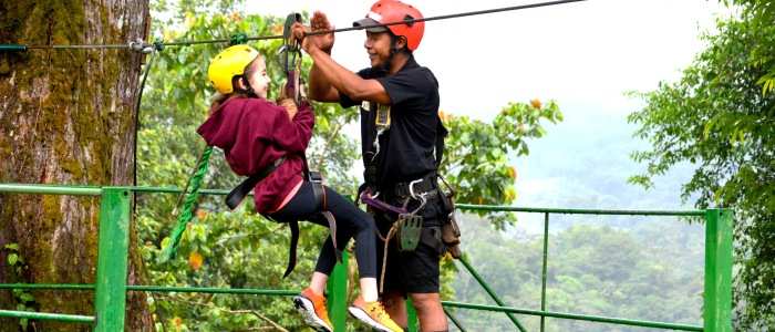 zip lining tour in the rainforest is the most popular adventure activity in costa rica