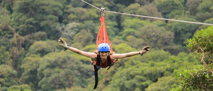 zip linning in the monteverde and poas volcano areas